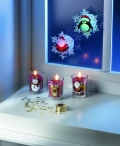 set 3 candele e coriandoli decorativi - Avon