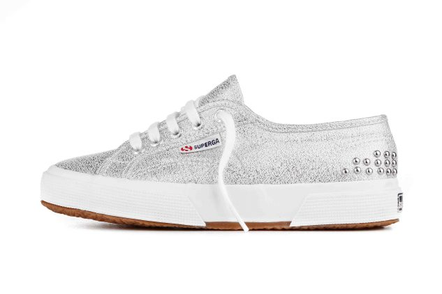 Superga e AW LAB - argento e borchie