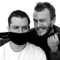 Matt Damon and Heath Ledger by Andy Gotts