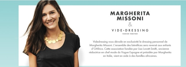 Margherita Missoni e Videdressing per OAfrica
