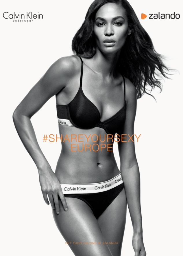 Joan Smalls featured in Zalando's collaboration with Calvin Klein for their Share Your Sexy campaign.