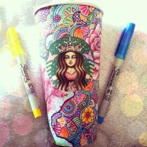 L'arte di Carrah Aldridge Starbucks