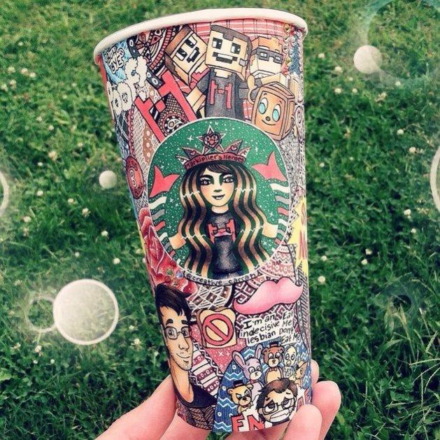 L'arte di Carrah Aldridge Starbucks