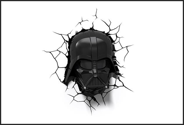 Lampada da parete Darth Vader
