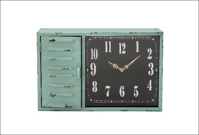 Cassetta portachiavi con orologio